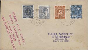 Währungsreform Letzttag Reichsmark + FDC neue Währung AMERN 21.6.1948