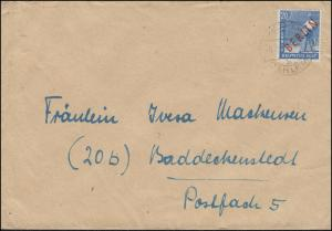 26 Rotaufdruck 20 Pf. EF Brief BERLIN-DAHLEM 8.7.49 nach Baddeckenstedt
