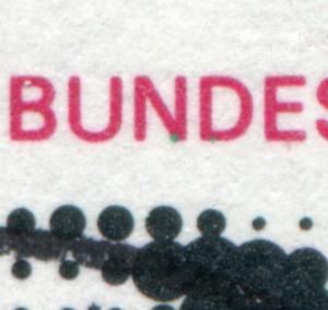 686 aus Block 6 Olympiade 1972 mit PLF grüne Punkte unter ND, gestempelt