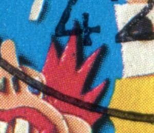 Block 27 Kinder 1993 mit PLF schwarzer Fleck im Haarzipfel, gestempelt