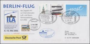 Luftschiffspost DKL 81 Zeppelin NT ILA Berlin-Flug SSt FRIEDRICHSHAFEN 2.5.2002