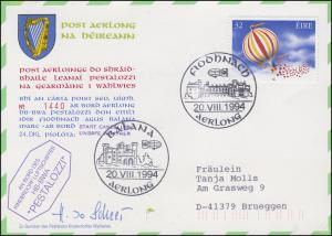 Luftschiffspost DKL 24 PESTALOZZI Irland-Fahrt FIODNACH / BALANA 20.8.1994