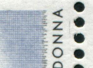 307I Kunstschätze 1 DM mit PLF I Strich neben NN von MADONNA, Feld 23, **