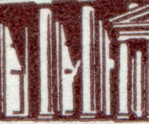 286II Brandenburger Tor 10 Pf. OR-Viererblock mit PLF II ** geprüft Schlegel BPP