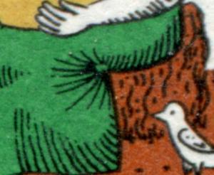 266I Wofa 10 Pf. mit PLF I grüner Fleck in den Rockfalten, Feld 6, **