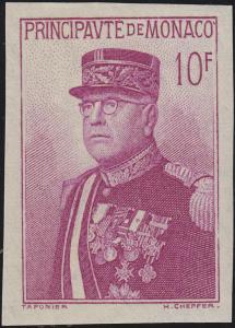 Monaco 163 Nationalfeiertag Fürst Louis II. - Marke aus Block 1, Falzspur *