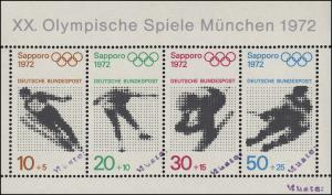 Block 6 Olympia Sapporo und München 1972, Block mit MUSTER-Aufdruck
