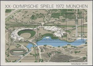 Block 7 Olympia Sportstätten München 1972, Block mit MUSTER-Aufdruck