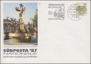 PU 117/312 BuS 80 Pf. SÜDPOSTA Freundschaftsbrunnen, Sindelfingen 22.10.87