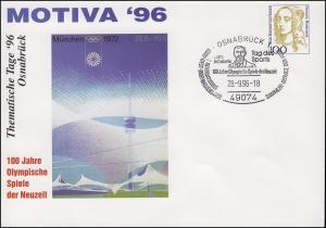 PU 350 Frauen 100 Pf MOTIVA'96 Olympische Spiele, SSt Osnabrück 28.9.1996