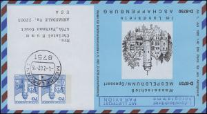 Privatfaltbrief PF 37/1 Mespelbrunn & Aschaffenburg, MESPELBRUNN 1..7.1982