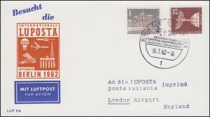 140+147 Stadtbilder mit LUPOSTA-Lochung Schmuck-PK LUPOSTA SSt Berlin 16.7.1962