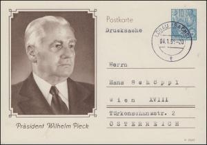 Sonderpostkarte P 76 Geburtstag Wilhelm Pieck, LÖBAU / SACHEN 4.1.46 nach Wien