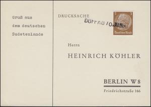 Sudetenland 1938: Drucksache Einzeiler