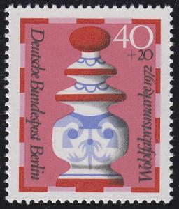 744 Wofa Schachfiguren Dame 40 Pf mit Doppeldruck der Farbe schwarz, **