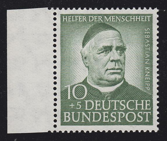 174Y Wofa Sebastian Kneipp 10 Pf. mit WZ. 4Y, Randstück **, signiert Sieger 0