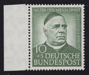 174Y Wofa Sebastian Kneipp 10 Pf. mit WZ. 4Y, Randstück **, signiert Sieger