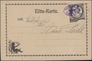 Vignette Bund der Deutschen in Böhmen 2 h auf Elite-Karte Ferientanzkurs 1909