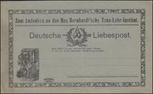 Postkarte Deutsche Liebespost - Max Bernhardt'sche Tanz-Lehr-Institut