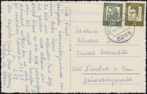 Landpost 8265 Untertürken auf AK Namenstag mit MiF SIMBACH a. INN 18.11.63
