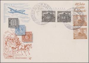 Berliner Bauten S 2 + 1 Pf - Paar auf Blanko-Schmuck-FDC ESSt BERLIN 1.11.1949