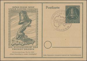 P 28 Maifeier 1952 - 10 Pf mit ESSt BERLIN Für Frieden in Freiheit 1. Mai 1952