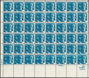 USA Robert Kennedy, Bogen mit markanter Farbverschmierung untere Reihe ** MNH