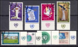 1-8 UNO Genf Jahrgang 1969 komplett - mit TAB, ESSt