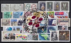 1268-1305 Bund-Jahrgang 1986 komplett gestempelt O