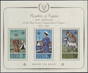 Zypern (griechisch) Block 1 Pfadfinder-Konferenz 1963, postfrisch **