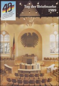 BDPh-Belegemappe Tag der Briefmarke 1989: 40 Jahre Bundesrepublik Deutschland