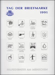 BDPh-Belegemappe Tag der Briefmarke 1991: Hilfsdienste am Menschen