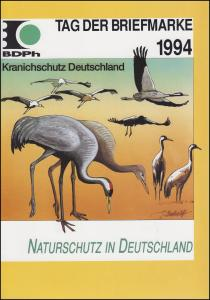 BDPh-Belegemappe Tag der Briefmarke 1994: Naturschutz in Deutschland