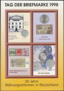 BDPh-Belegemappe Tag der Briefmarke 1998: 40 Jahre Währungsreform in Deutschland