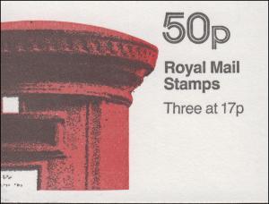 Großbritannien-Markenheftchen 72I Königin Elisabeth II. November 1985, **