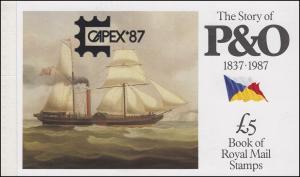 Großbritannien-Markenheftchen 80 The Story of P & O 1987 - CAPEX **