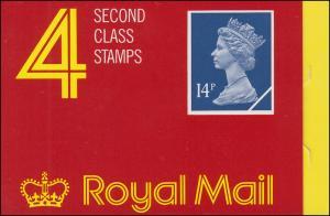 Großbritannien-Markenheftchen O-108b Elisabeth II. Strichcode 100098 - 1989, **