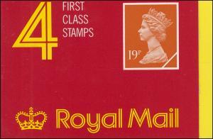 Großbritannien-Markenheftchen O-109b Elisabeth II. Strichcode 100074 - 1989, **
