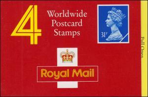 Großbritannien-Markenheftchen O-126 Elisabeth II. Strichcode 100227 - 1990, **