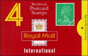 Großbritannien-Markenheftchen O-132 Elisabeth II. Strichcode 100296 - 1991, **