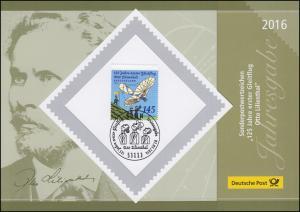 Jahresgabe der Post 125 Jahre erster Gleitflug Otto Lilienthal 2016