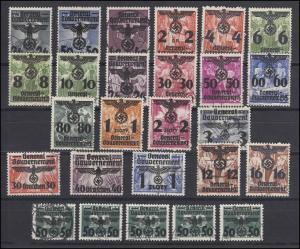 Generalgouvernement 14-39 Polen mit Aufdruck 1940, 26 Werte, Satz gestempelt