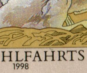 2015 Wofa Kornweihe - 10er-Bogen mit PLF Fleck über dem H, Feld 7 **