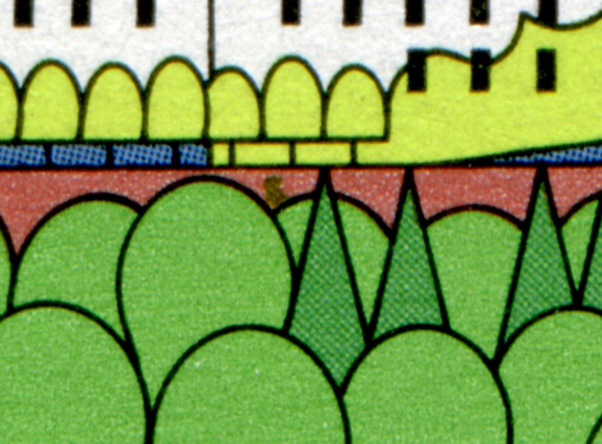1849I Holsteinische Schweiz - 10er-Bogen mit PLF I grüner Fleck, Feld 10, ** 0