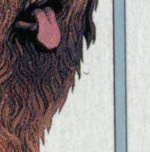 1840 Briard - 10er Bogen mit PLF schwarzer Strich rechts am Kopf, Feld 3 **