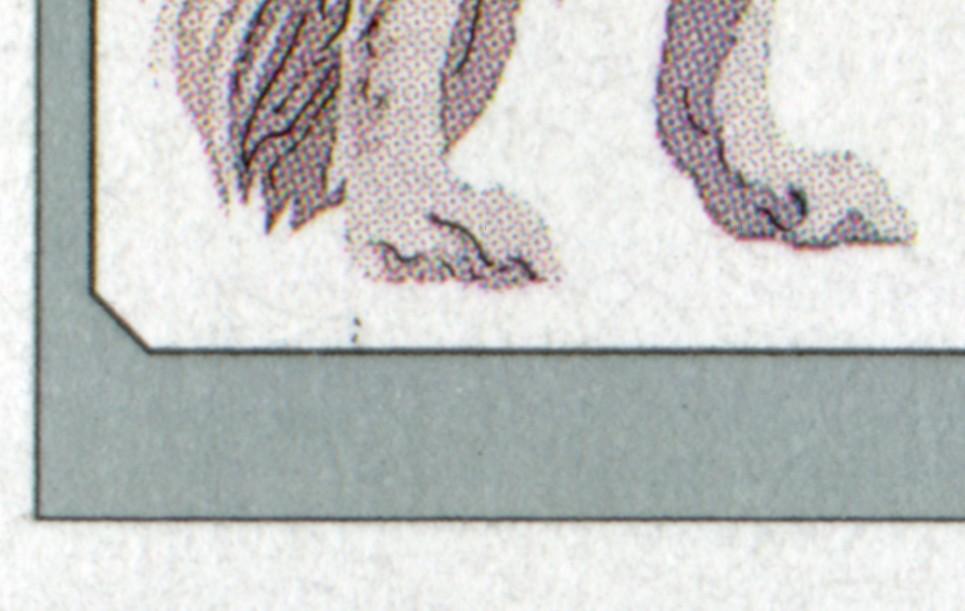 1836I Barsoi - 10er Bogen mit PLF I Punkte unter linker Hinterpfote, Feld 5, ** 0