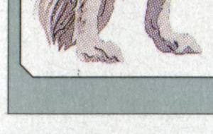 1836I Barsoi - 10er Bogen mit PLF I Punkte unter linker Hinterpfote, Feld 5, **
