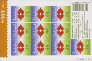2475 Grußmarke 44 Cent - Zehn für die Liebe 2006, Folienblatt **
