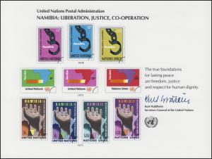 UNO Erinnerungskarte EK 13 Namibia 1978, ungebraucht **