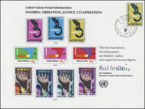 UNO Erinnerungskarte EK 13 Namibia 1978, Genf-FDC 5.5.1978